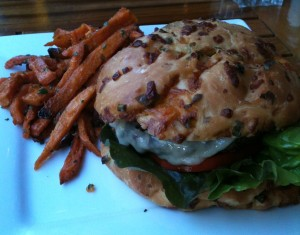 Ettore's Hamburger with Sweet Potato Fries